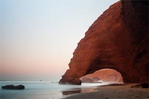 15 Lengkungan Batu Laut menakjubkan, Legzira-Beach