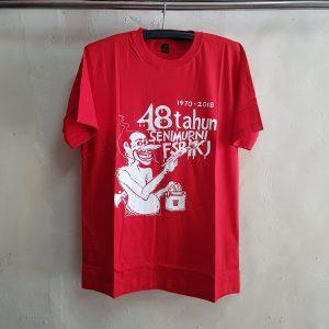 Kaos Oblong Merah, T-Shirt Seni Murni IKJ