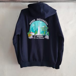 Jaket Hoodie Waze Indonesia, Jaket Fleece Cotton